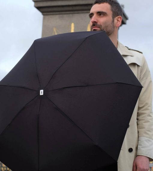 Folding black Umbrella for men - Anatole