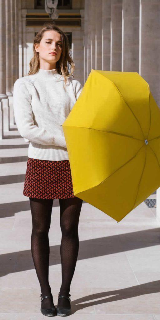 Parapluie femme - jaune moutarde Anatole