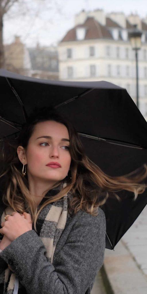 parapluie noir pliant femme - Anatole