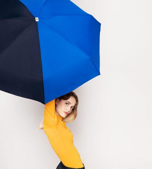 Parapluie bicolore bleu - bleu nuit - Anatole