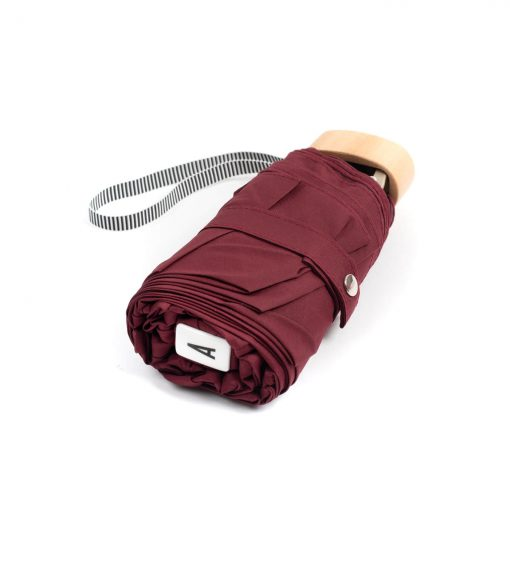 folded burgundy mini umbrella - Anatole