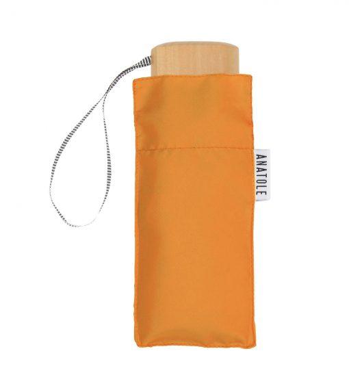 Parapluie orange avec étui Anatole