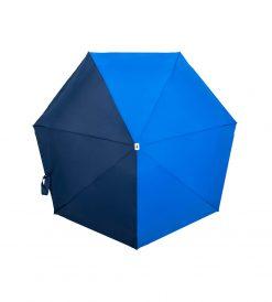 Parapluie pliant bicolore 2 bleus Anatole