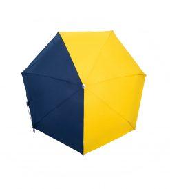 Parapluie pliant bicolore bleu jaune Anatole