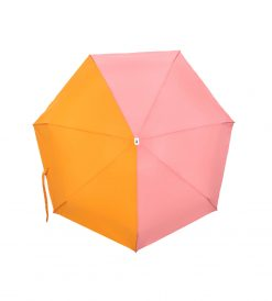 Parapluie pliant bicolore rose orange Anatole
