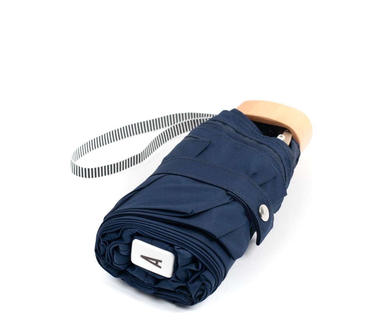 Parapluie pliant bleu marine - Anatole