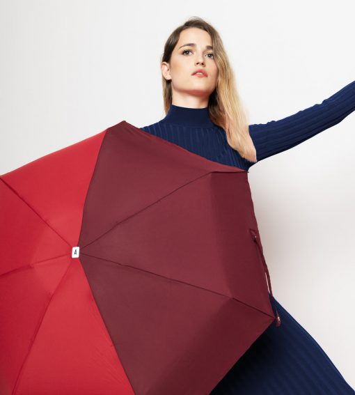 parapluie bicolore bordeaux-rouge Anatole