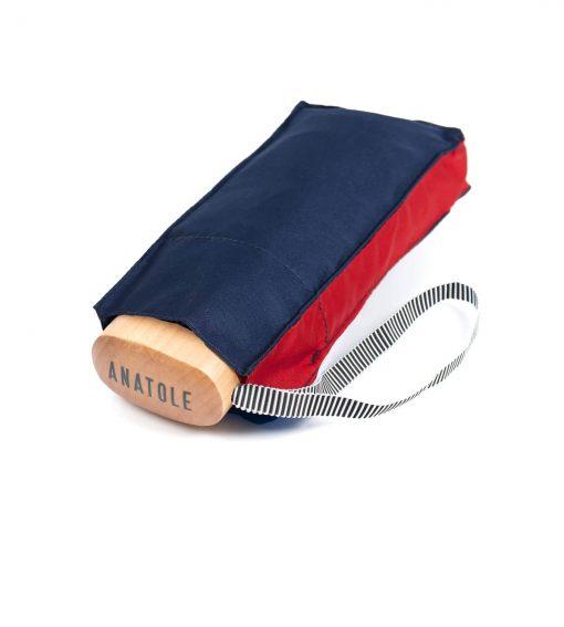 bicolore umbrella navy red with case