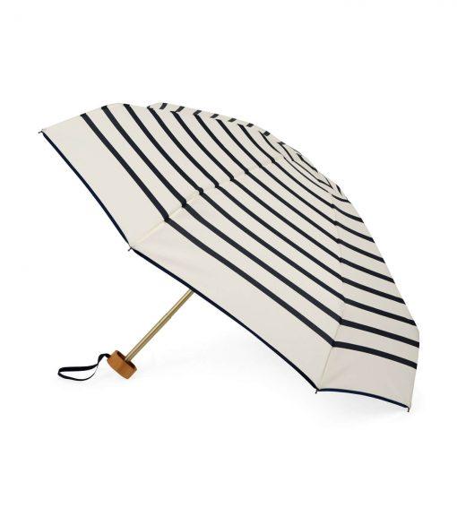 Mini-parapluie marinière ouvert rayures bleues - HENRI - parapluie pliant Anatole