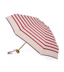 Striped open umbrella with red stripes - DIANA - Anatole foldable umbrella