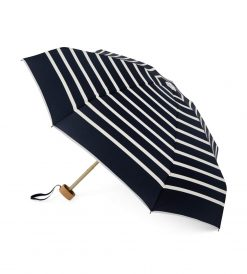 Striped open navy mini-umbrella - PABLO - Anatole foldable umbrella