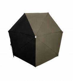 Parapluie bicolore kaki noir - ALMA