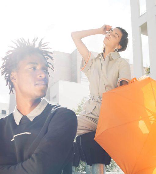 mini parapluie orange modèles femme et homme - Anatole